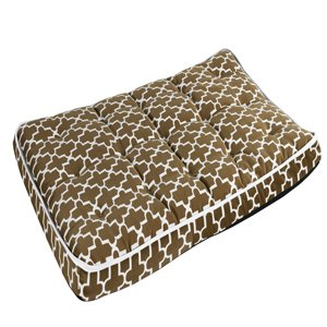 "Luxury Crate Mattress Dog Pillow Size: Small (23"" L x 17"" W), Color: Cedar Lattice from Bowsers"