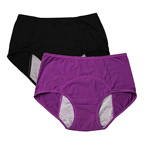 women-mesh-holes-breathable-leakproof-period-panties-us-size-xl-8-purple-black