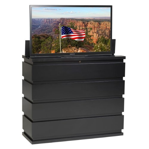 TV Lift Cabinet for 32-50 inch Flat Screens (Black)