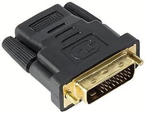 mumbi HDMI auf DVI Adapter - vergoldet + zertifiziert - DVI-D Stecker (24+1) auf HDMI Buchse (19pol) Adapter / Full HD 1080p