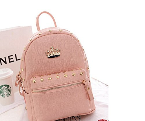 New Jelly Candy Bling Leather Women's Everyday Backpack Purse Backpack Mochhila Pink