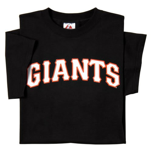 San Francisco Giants (ADULT LARGE) 100% Cotton Crewneck MLB Officially Licensed Majestic Major League Baseball Replica T Shirt Jersey