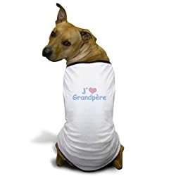 CafePress I Heart Grandfather French Dog T-Shirt - 2XL White made by CafePress