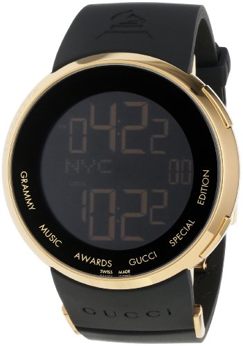 Gucci Men's YA114215 I-Gucci Digital GRAMMY Special Edition Black Watch