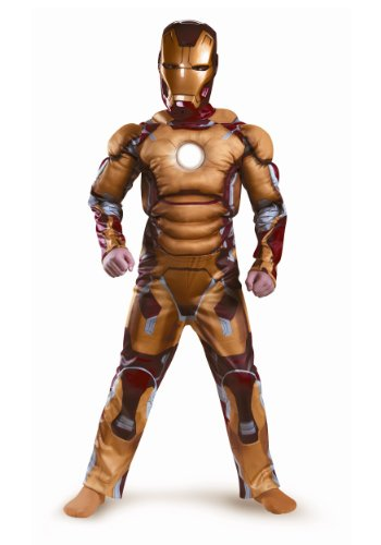 Disguise Marvel Iron Man Movie 3: Iron Man Mark 42 Boys Muscle Light Up Costume