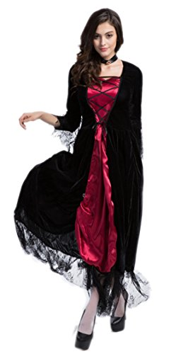 NonEcho Women's Halloween Costumes Gothic Vampire Costume Witch