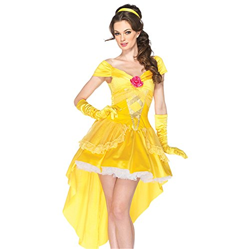 Sexy4Lady Women's Enchanting Princess Belle Costume