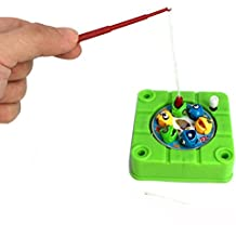 Generic Mini Magnetic Fishing Toy For Kids Rotating Wind Up Toys For Children Funny Fishing Game Board Fish Hungry...