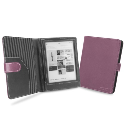 """Cover-Up Kobo Aura HD eReader (6.8"""") Cover Case With Auto Sleep / Wake Function (Book Style) - Purple from Electronic-Readers.com"""