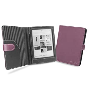 "Cover-Up Kobo Aura HD eReader (6.8"") Cover Case With Auto Sleep / Wake Function (Book Style) - Purple"