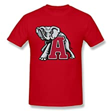 buy Men'S Alabama Crimson Tide Football Mascot Screw Neck 100% Cotton Tee Size Xl Red