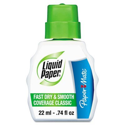 liquid-paper-products-liquid-paper-fast-dry-classic-correction-fluid-22-ml-bottle-white-sold-as-1-ea