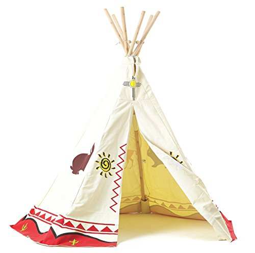 Garden Games ltd Children's Wigwam/Teepee Play Tent - Traditional Wild West Cowboys and Indians design