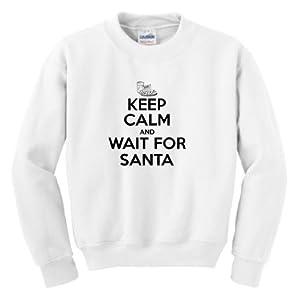Keep Calm and Wait for Santa Youth Crewneck Sweatshirt