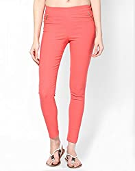 ELLIS Cotton Lycra Orange Jeggings Form Women