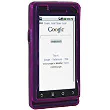 Amzer 85319 Hybrid Silicone Skinelly Case - Purple For Motorola Milestone A855
