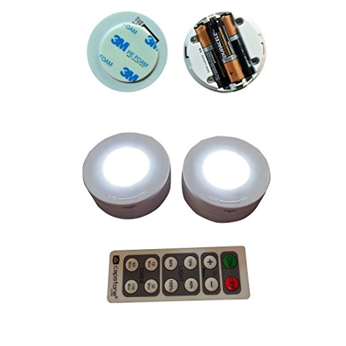 capstone lighting capstone 6 led wireless puck lights with remote. Black Bedroom Furniture Sets. Home Design Ideas