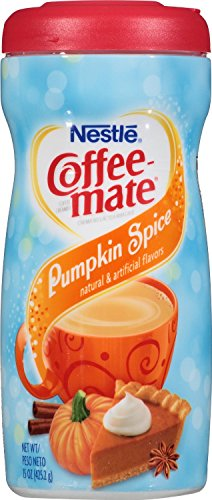 Nestle Coffee-Mate Pumpkin Spice Non-Dairy Powdered Creamer 15Oz Canister (Pack Of 4)