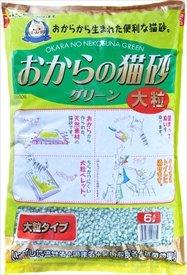 常陸化工 固まるおから製猫砂 おからの猫砂 グリーン 大粒 6L