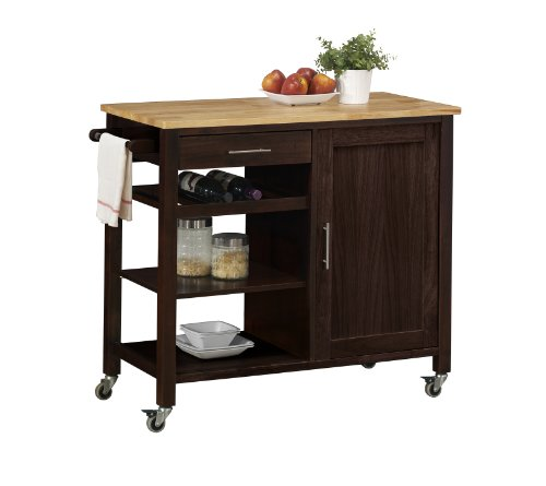 Kitchen Table With Wine Storage front-367600
