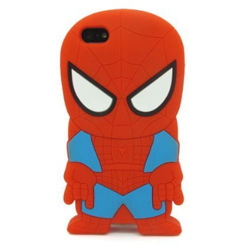 iPhone 6 Plus 6S Plus Case, Anya 3D Cute Bow Superhero Series Style Cartoon Soft Rubber Silicone Back Shell Case Cover Skin for Apple Iphone 6 6S Plus 5.5 inch Spider-Man