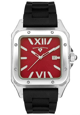 Swiss Legend Men's SL-40067-55 St. Tropez Collection Square Red Dial Watch