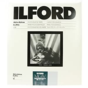 """Ilford Multigrade IV RC Deluxe Resin Coated VC Variable Contrast Black & White Enlarging Paper - 8x10"""" - 25 Sheets - Pearl Surface"""