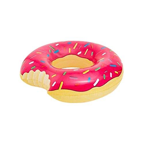 Easybuyeur Donut Inflatable Swim Ring Giant Fun Bite Shape Swimming Pool Water Float Raft