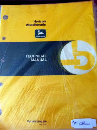 John Deere Horicon Attachments Technical Manual tm1429