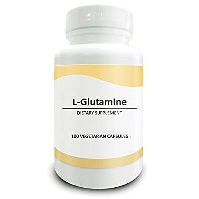 Pure Science L-Glutamine Supplement 1500mg - Improves Energy Levels & Muscle Mass, Muscle Recovery, Supports Digestive & Immune Health - 100 Vegetarian Capsules of Glutamine Powder