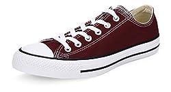 Converse Unisex Maroon Canvas Sneakers - 3 UK