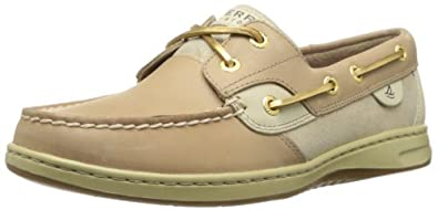 Sperry Top-Sider Women's Bluefish Suede Boat Shoe,Linen/Gold,5 M US