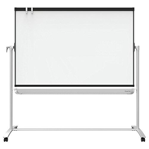 quartet-prestige-2-total-erase-magnetic-whiteboard-mobile-easel-reversible-6-x-4-feet