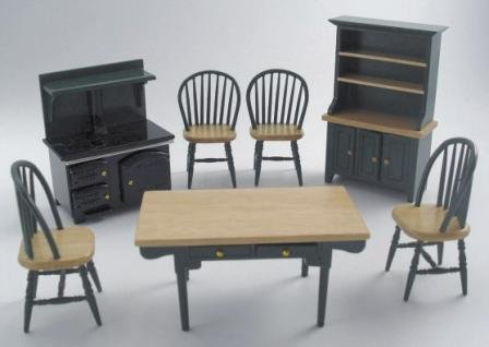 Dolls House Furniture 1/12 / 7 Piece Kitchen Set/ New
