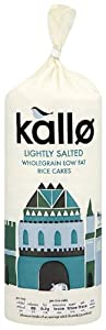 Kallo Rice Cakes Low Fat 130 g (Pack of 6)