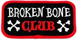 Broken Bone Club Patch Embroidered Iron-On Motorcycle Biker Emblem