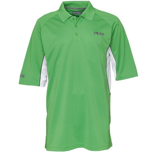 Ping Collection Mens Barts Side Panel Polo Grass/White