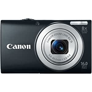 Canon 6149B005 PowerShot A4000 IS 16.0 MP Digital Camera with 8x Optical Image Stabilized Zoom 28mm Wide-Angle Lens with 720p HD Video Recording (Black)