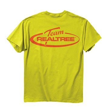 Buckwear team realtree logo safety green men 39 s t shirt for Safety logo t shirts