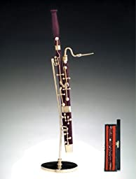 Instrument Miniature with Hand-Crafted Velvet Lined Case - Bassoon
