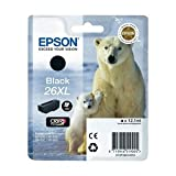 Epson 26XL / T2621 Black Original Printer Ink Cartridge for Epson XP-600 XP-605 XP-700 XP-800 - High Capacity