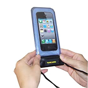 TrendyDigital WaterGuard Plus Waterproof Case with Padding for Apple iPhone 4 and Droid, Blue