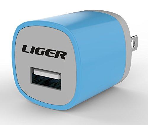 Liger-USB-Wall-Travel-For-Smartphone-Tablet-Speaker-Headset-Power-Bank-Blue