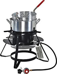 Brinkmann 815-4010-s Outdoor Cooker With 10-quart Pot And Basket by Brinkmann