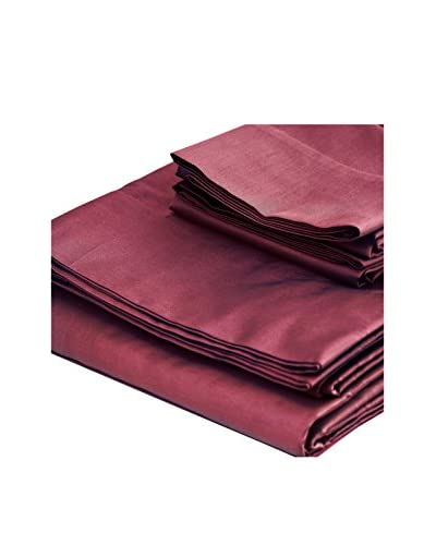 bambeco 300 TC Sateen Organic Cotton Solid Sheet Set  [Mahogany]