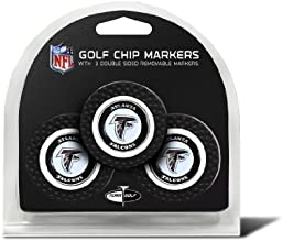 Set of 3 Atlanta Falcons Poker Chips with removable Golf Ball Markers