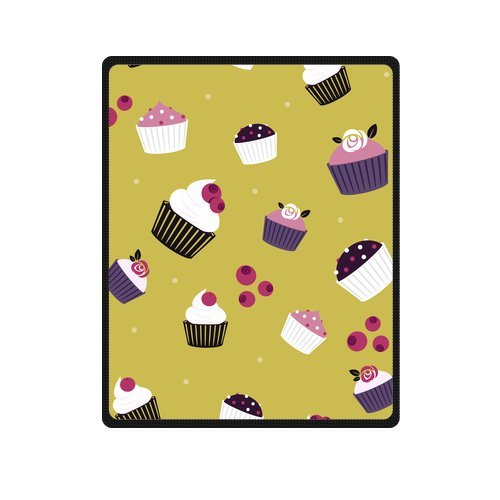Personalized Fashion Seamless Pattern Colorful Cakes Picture Fleece Blanket 40 X 50 back-1055221