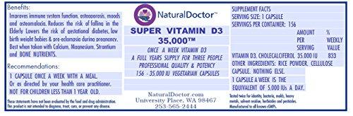 Naturaldoctor Super Vitamin D3 35,000, 156 Vegetarian Capsules