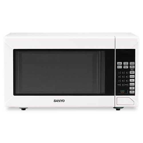 Sanyo Products - Sanyo - Countertop Microwave Oven, 1.4 Cu. Ft., 1,200 Watts, White - Sold As 1 Each - Glass turntable. - Eight direct access keys. - Multi-stage cooking. - Ten power levels. - Defrost by weight or time.