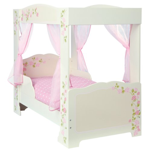 Worlds Apart Generic Rose 4-Poster Toddler Bed